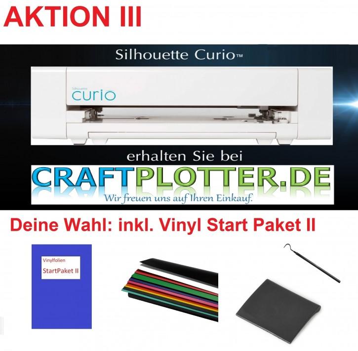 SILHOUETTE CURIO Schneideplotter Aktion 3 Vinyl