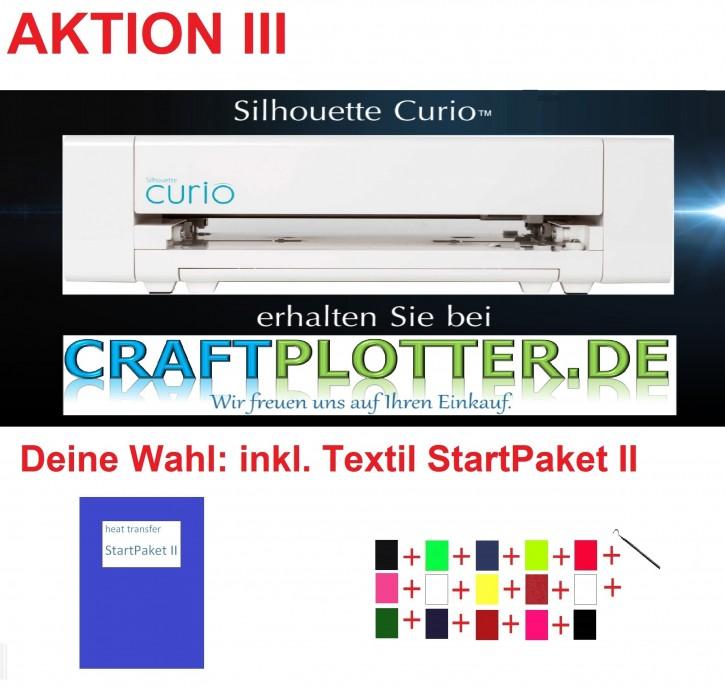SILHOUETTE CURIO Schneideplotter Aktion 3 Textil