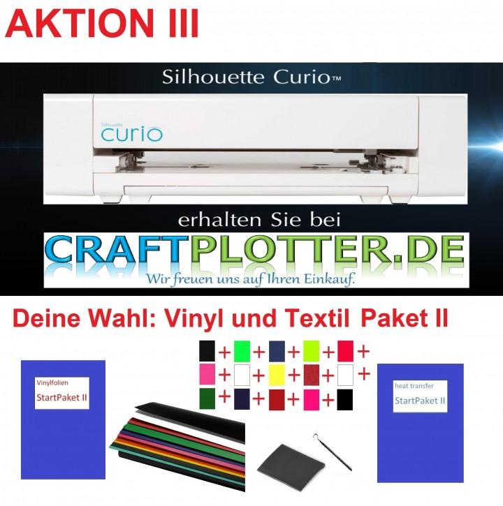 SILHOUETTE CURIO Schneideplotter Aktion 3 Vinyl+Textil