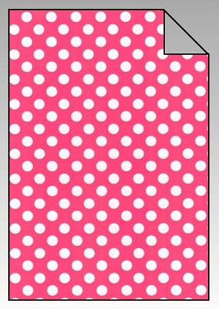Polka Dots Flexfolie A4 Pink