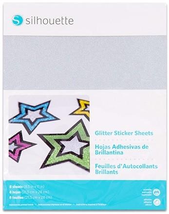 Silhouette bedruckbares Sticker Papier - Glitzer