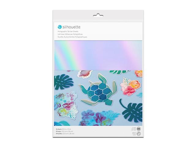 Silhouette bedruckbares Sticker Papier - Holografisch