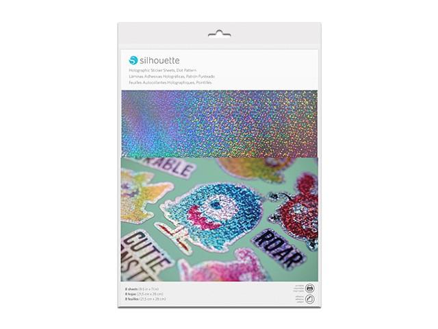 Silhouette bedruckbares Sticker Papier - Holografisch gepunktet