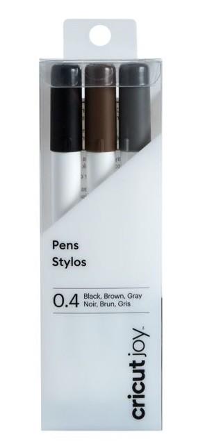 Cricut Joy Fine Point Pens / Stifte 0,4 mm Black, Brown, Grey