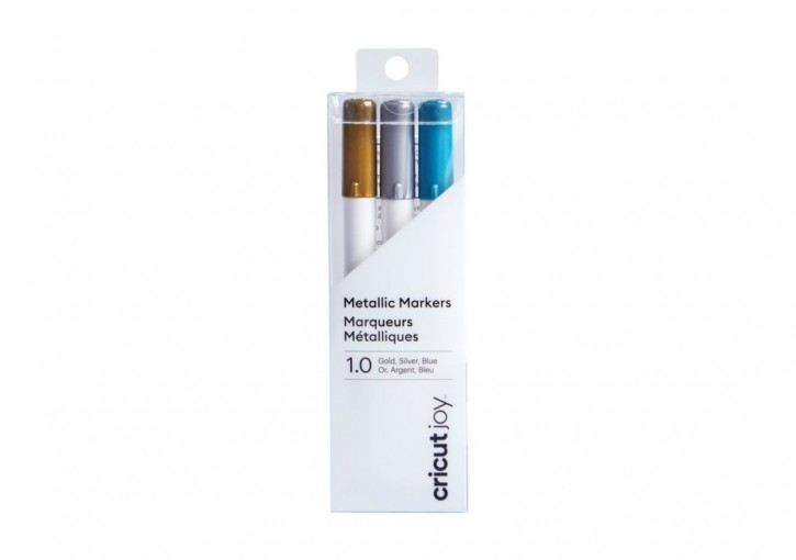 Cricut Joy Metallic Markers / Stifte 1,0 mm Gold, Silver, Blue