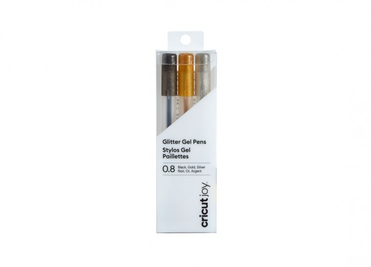 Cricut Joy Glitter Pens / Stifte 0,4 mm Black, Gold, Silver