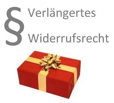 Verlängertes Rückgaberecht für Ihre Weihnachtseinkäufe