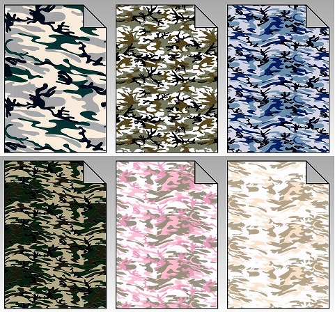 Flexfolie Army Camouflage Look A4