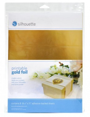 Gold Sticker Folie bedruckbar 8er Pack