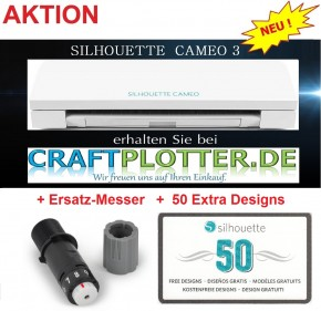 SILHOUETTE CAMEO 3 Schneideplotter Aktion