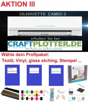SILHOUETTE CAMEO 3 Schneideplotter Aktion 3