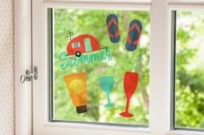 Silhouette bedruckbare Haftfolie für Fenster Transparent
