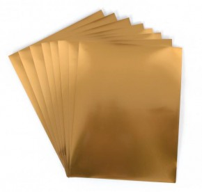 Gold Sticker Folie bedruckbar 8er Pack